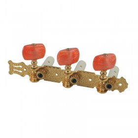 Classical guitar tuners gold with amber knobs