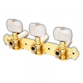 Classical guitar tuners gold with pearloid knobs